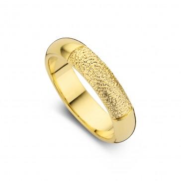 Love arany sárga/sárga női gyűrű szélesség 5,5mm