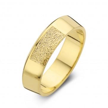 Warm arany sárga/sárga férfi gyűrű szélesség 6,5mm