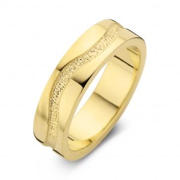 Emotion arany sárga/sárga férfi gyűrű szélesség 6,5mm