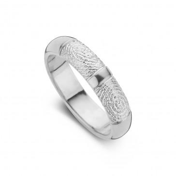 Love Double Print arany fehér/fehér női gyűrű szélesség 5,5mm