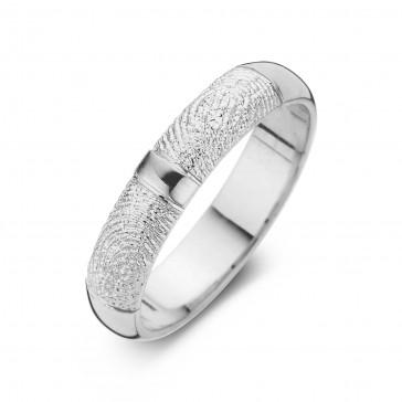Love Double Print arany fehér/fehér férfi gyűrű szélesség 6,5mm