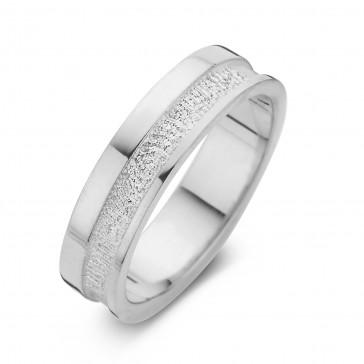 Caring arany fehér/fehér férfi gyűrű szélesség 6,5mm