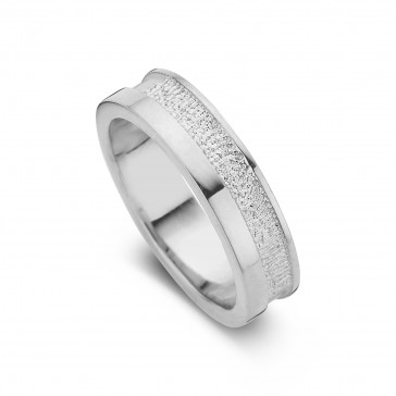 Caring arany fehér/fehér női gyűrű szélesség 5,5mm