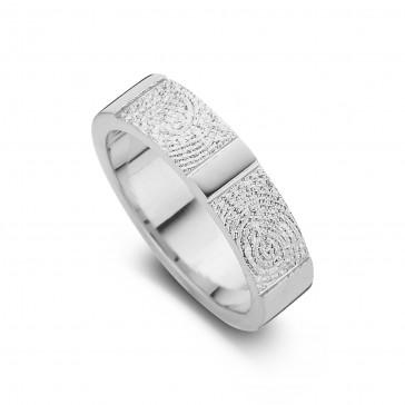 True double print arany fehér/fehér női gyűrű szélesség 5,5mm