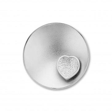 Sphere Heart ezüst 25mm