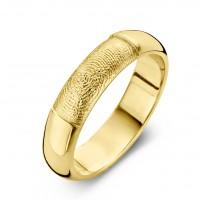 Love arany sárga/sárga férfi gyűrű szélesség 6,5mm