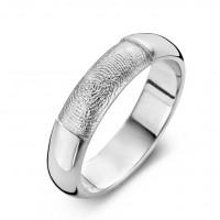 Love arany fehér/fehér férfi gyűrű szélesség 6,5mm