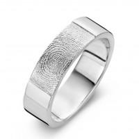True arany fehér/fehér férfi gyűrű szélesség 6,5mm