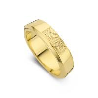 Warm arany sárga/sárga női gyűrű szélesség 5,5mm