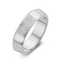 Warm arany fehér/fehér férfi gyűrű szélesség 6,5mm