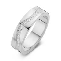 Emotion arany fehér/fehér férfi gyűrű szélesség 6,5mm