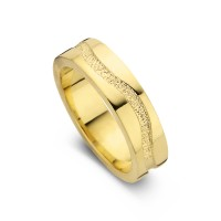Emotion arany sárga/sárga női gyűrű szélesség 5,5mm