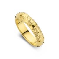 Love Double Print arany sárga/sárga női gyűrű szélesség 5,5mm