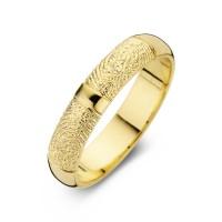 Love Double Print arany sárga/sárga férfi gyűrű szélesség 6,5mm