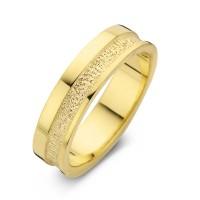 Caring arany sárga/sárga férfi gyűrű szélesség 6,5mm