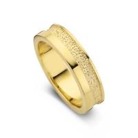 Caring arany sárga/sárga női gyűrű szélesség 5,5mm