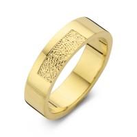 Tender arany sárga/sárga férfi gyűrű szélesség 6,5mm