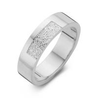 Tender arany fehér/fehér férfi gyűrű szélesség 6,5mm