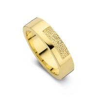Tender arany sárga/sárga női gyűrű szélesség 5,5mm