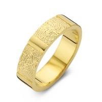 True Double Print arany sárga/sárga férfi gyűrű szélesség 6,5mm