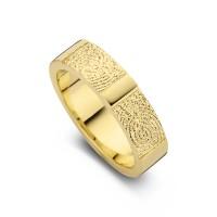 True Double Print arany sárga/sárga női gyűrű szélesség 5,5mm