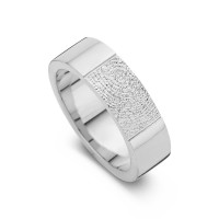 True arany fehér/fehér női gyűrű szélesség 5,5mm