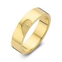 Desire arany sárga/sárga férfi gyűrű szélesség 6,5mm