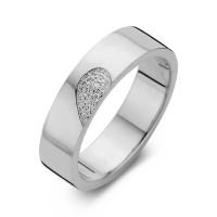 Desire arany fehér/fehér férfi gyűrű szélesség 6,5mm