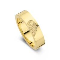 Desire arany sárga/sárga női gyűrű szélesség 5,5mm