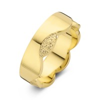 Devoted arany sárga/sárga férfi gyűrű szélesség 7mm