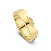 Devoted arany sárga/sárga női gyűrű szélesség 6mm