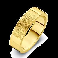 True arany sárga/sárga férfi gyűrű szélesség 6,5mm