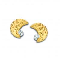Moon zirconia arany sárga/sárga